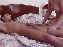 Stepson Pleasures And Fucks His Resting Stepmom