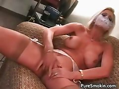 Brooke Smokes And Rubs Her vagina  part3